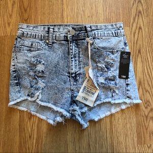 NWT YMI Novelty Wash Distressed Jean Shorts